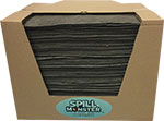 "Spill Monster Universal Medium Weight Absorbent Mat Pads, 15"" x 17"", Box of 200"
