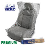 "Slip-N-Grip 32"" x 56"", .7 mil, Premium Clear Plastic Seat Covers, Roll of 250"